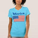 Camisa de Merica de las señoras 'con una bandera a
