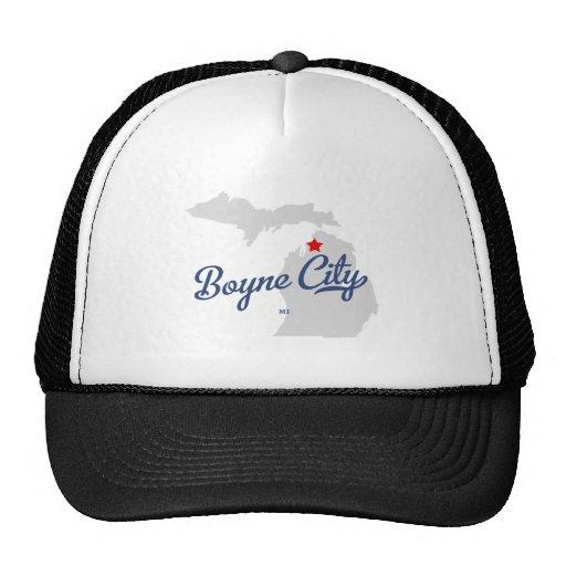 Camisa de Michigan MI de la ciudad de Boyne Gorras De Camionero