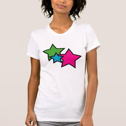 Camisa de neón de la estrella