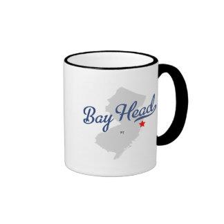 Camisa de New Jersey NJ de la cabeza de bahía Taza