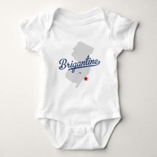 Camisa de New Jersey NJ del bergantín