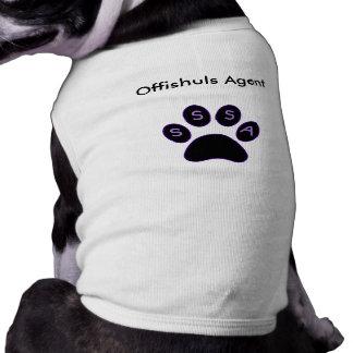 ¡Camisa de Offishuls para los agentes! Playera Sin Mangas Para Perro
