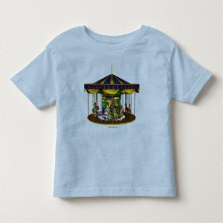 Camisa de oro del niño del carrusel