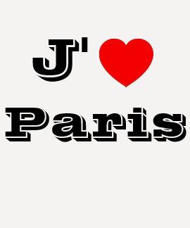 Camisa de París del amor de la camisa/I de J'aime