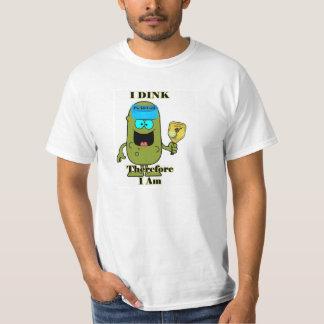 Camisa de Pickleball: I Dink por lo tanto estoy
