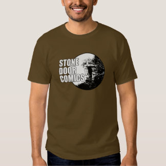 Camisa de piedra del logotipo de los tebeos de la