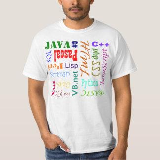 Camisa de programación del lenguaje