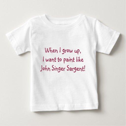 Camisa de Sargent del bebé