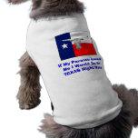 Camisa de Tejas del perro Ropa De Perro