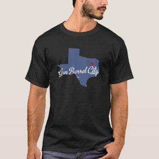 Camisa de Tejas TX de la ciudad del barril de arma