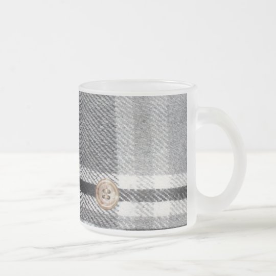 Camisa de tela escocesa taza de café esmerilada