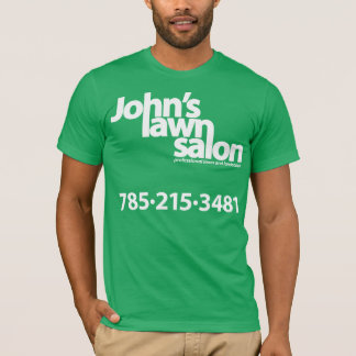 Camisa de trabajo del salón del césped de Juan