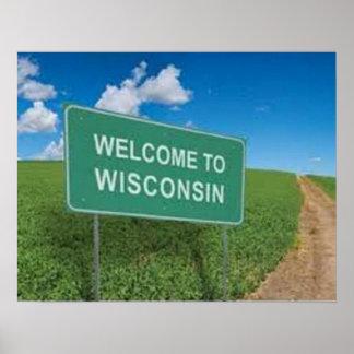 Camisa de Wisconsin Posters