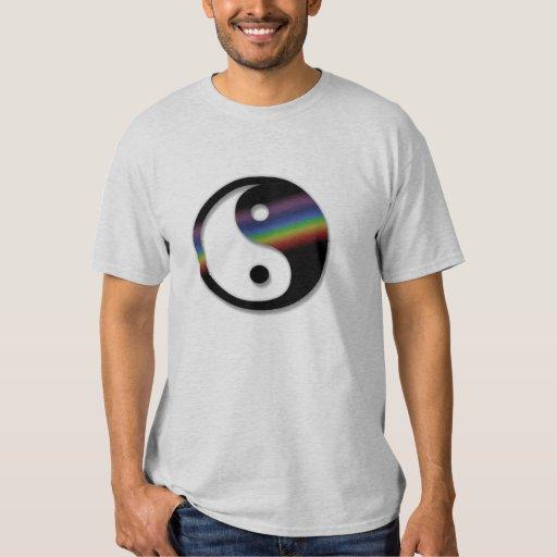 Camisa de Yin Yang del arco iris