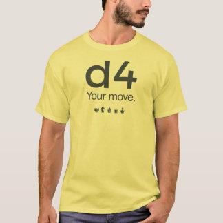 Camisa del ajedrez D4: Serie 1