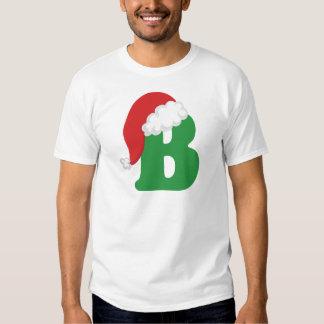Camisa del alfabeto de la letra B del navidad