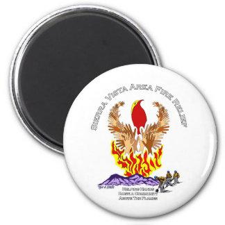 Camisa del alivio del incendio fuera de control de imán redondo 5 cm