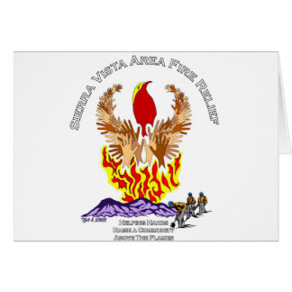 Camisa del alivio del incendio fuera de control de tarjeta de felicitación