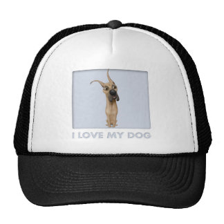 Camisa del amor de great dane gorro