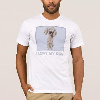 Camisa del amor de Weimaraner