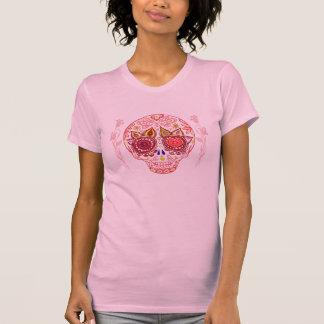 Camisa del amor del cráneo del azúcar de las