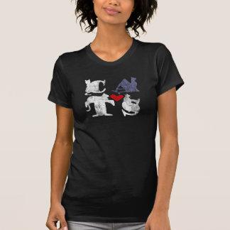 """""""Camisa del amor del gato"""" Playeras"""
