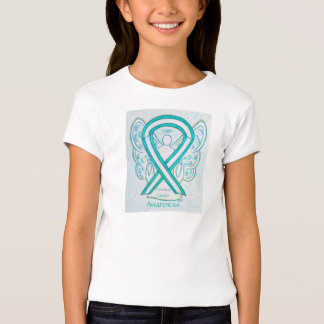 Camisa del ángel de la cinta de la conciencia del