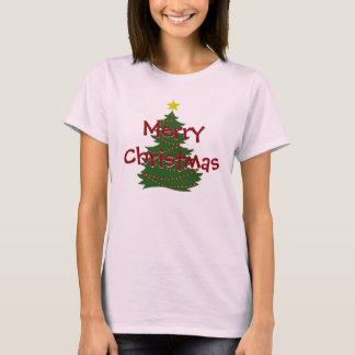 Camisa del árbol de navidad del autismo - luz