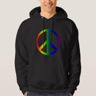 Camisa del arco iris del signo de la paz