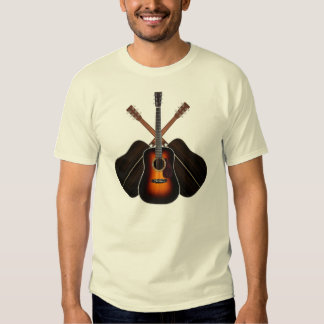 Camisa del arsenal de guitarra acústica