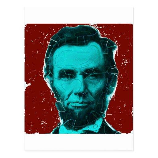 Camisa del arte de Abraham Lincoln--Diseño único Postal