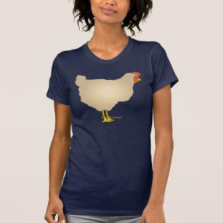 Camisa del arte del pollo del moreno
