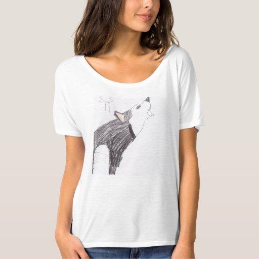 camisa del aullido del lobo de las mujeres