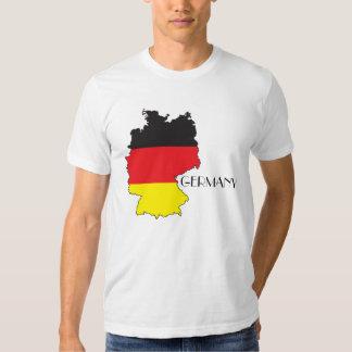 Camisa del Bandera-Mapa de Alemania