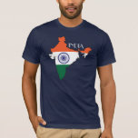 Camisa del Bandera-Mapa de la India