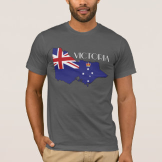 Camisa del Bandera-Mapa de Victoria