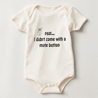 Camisa del bebé - botón enmudecedor