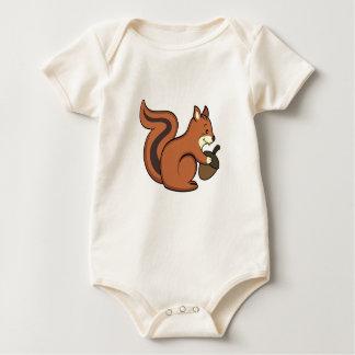 Camisa del bebé de la ardilla
