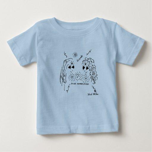 """Camisa del bebé de la """"conexión verdadera"""" de la"""