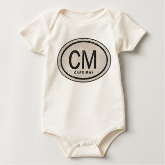 Camisa del bebé de la etiqueta de la playa de Cape