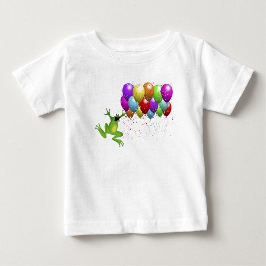 Camisa del bebé de la rana del año bisiesto