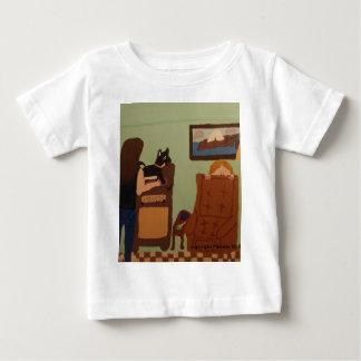 Camisa del bebé de la silla del ` s del papá