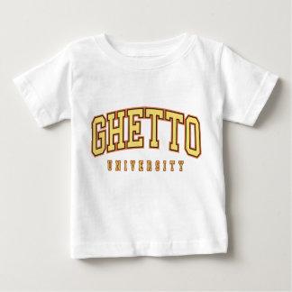 Camisa del bebé de la universidad del ghetto