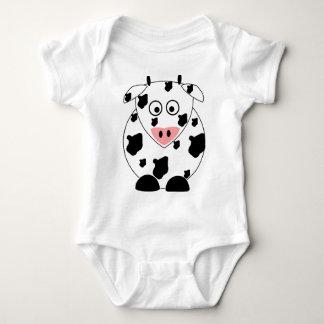 Camisa del bebé de la vaca