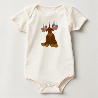 Camisa del bebé de los alces de Jánuca