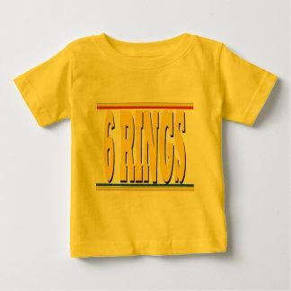 Camisa del bebé de los anillos