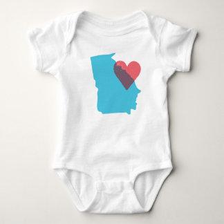 Camisa del bebé del amor del estado de Georgia