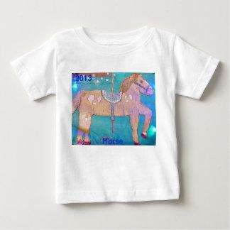 Camisa del bebé del caballo del carrusel