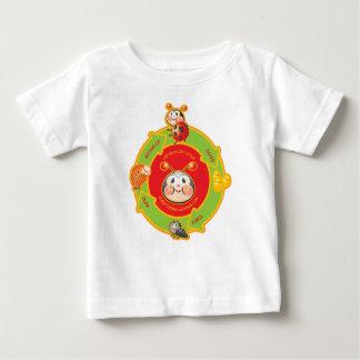 Camisa del bebé del ciclo vital de la mariquita
