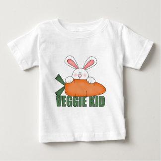 Camisa del bebé del conejo del niño del Veggie